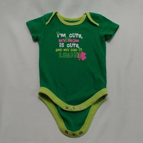 CARTER/'S BABY BOY 2PC LUCKY ME BODYSUIT PANT SET NB 3M OUTFIT ST PATRICK/'S DAY